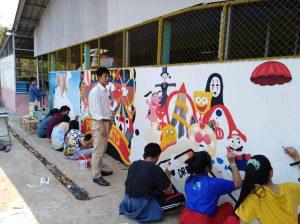 กิจกรรมวาดกำแพง